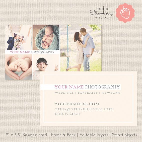 Photography business card template photoshop template photo photography business card template photoshop studiostrawberry accmission Gallery