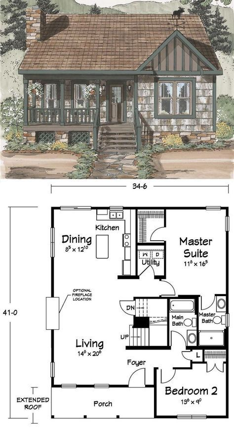 28 Facts About Cozy House Exterior Small 86 Freehomeideas Com Cottage Plan Sims House Plans House Layouts