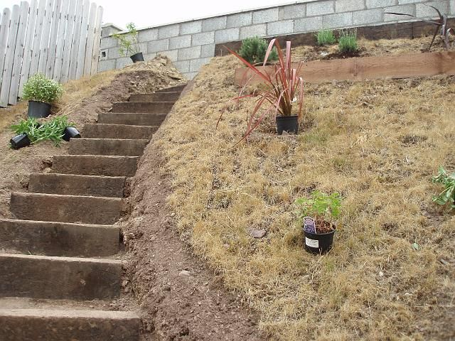 landscaping stairs steep slope