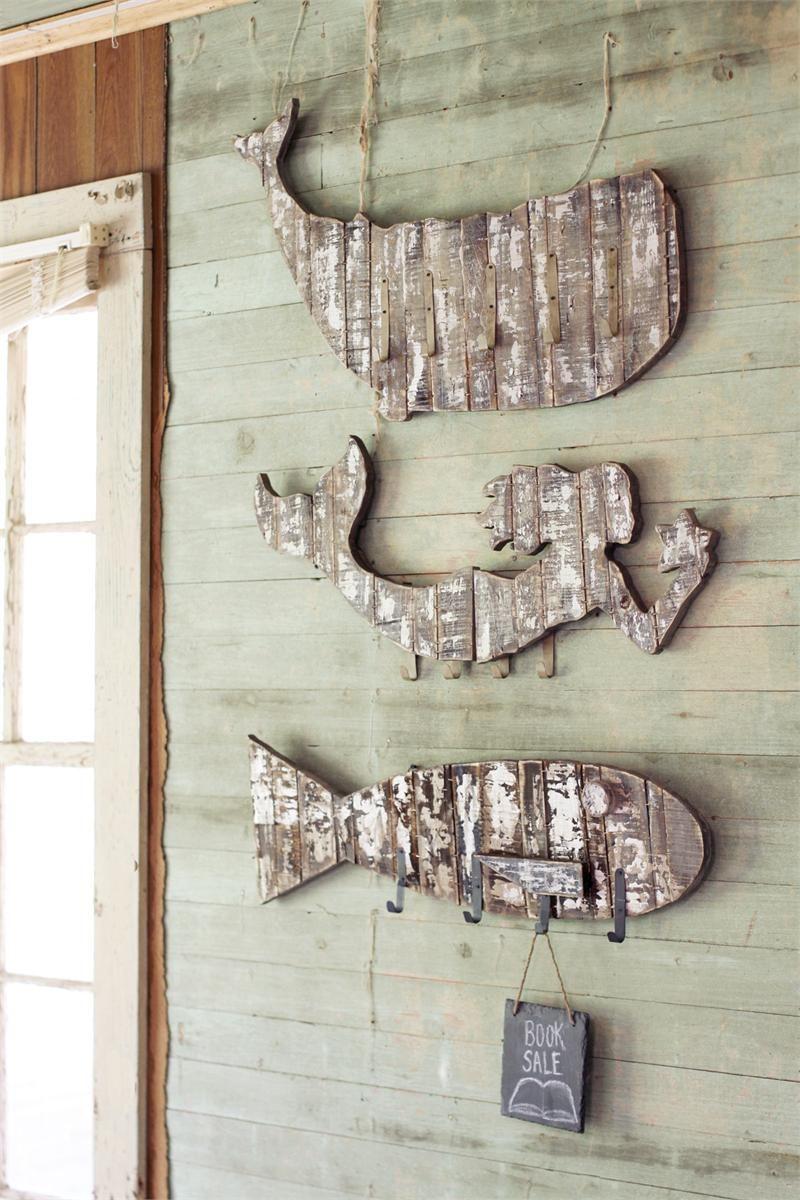 Nautical Whitewashed Wooden Coat Racks Wooden Coat Rack Coastal Decorating Wall Racks