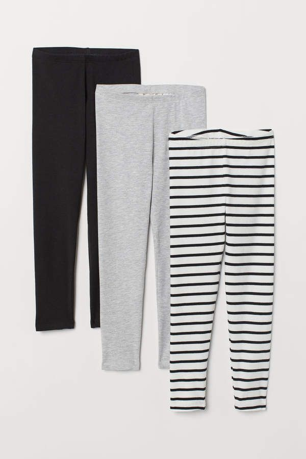 510f6d06a66f5 H&M 3-pack Jersey Leggings - White in 2019 | Products | Leggings ...