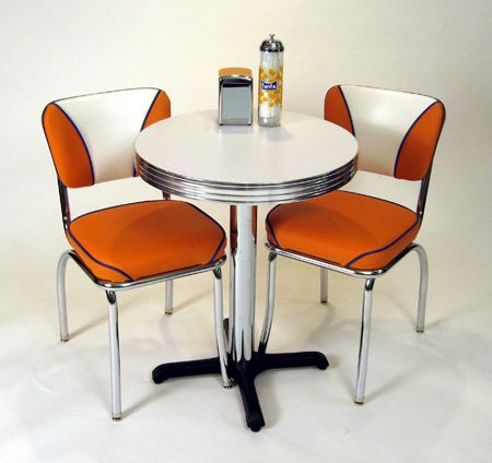 Retro Cafe Seating Restaurant Home Chrome Diner Table And Chairs Kitchen Dinette Sets Green Dining Chairs Contemporary Dining Chairs