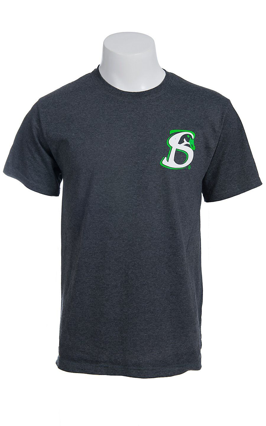 Stackin Bills® Men's Charcoal Grey with Green & White Logo