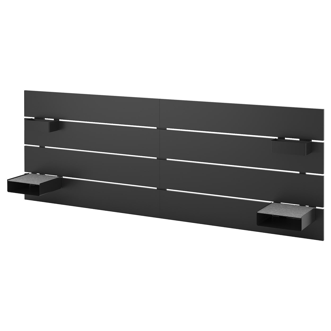 Nordli Tete De Lit Anthracite Ikea Ikea Nordli Ikea Headboard Headboard Storage