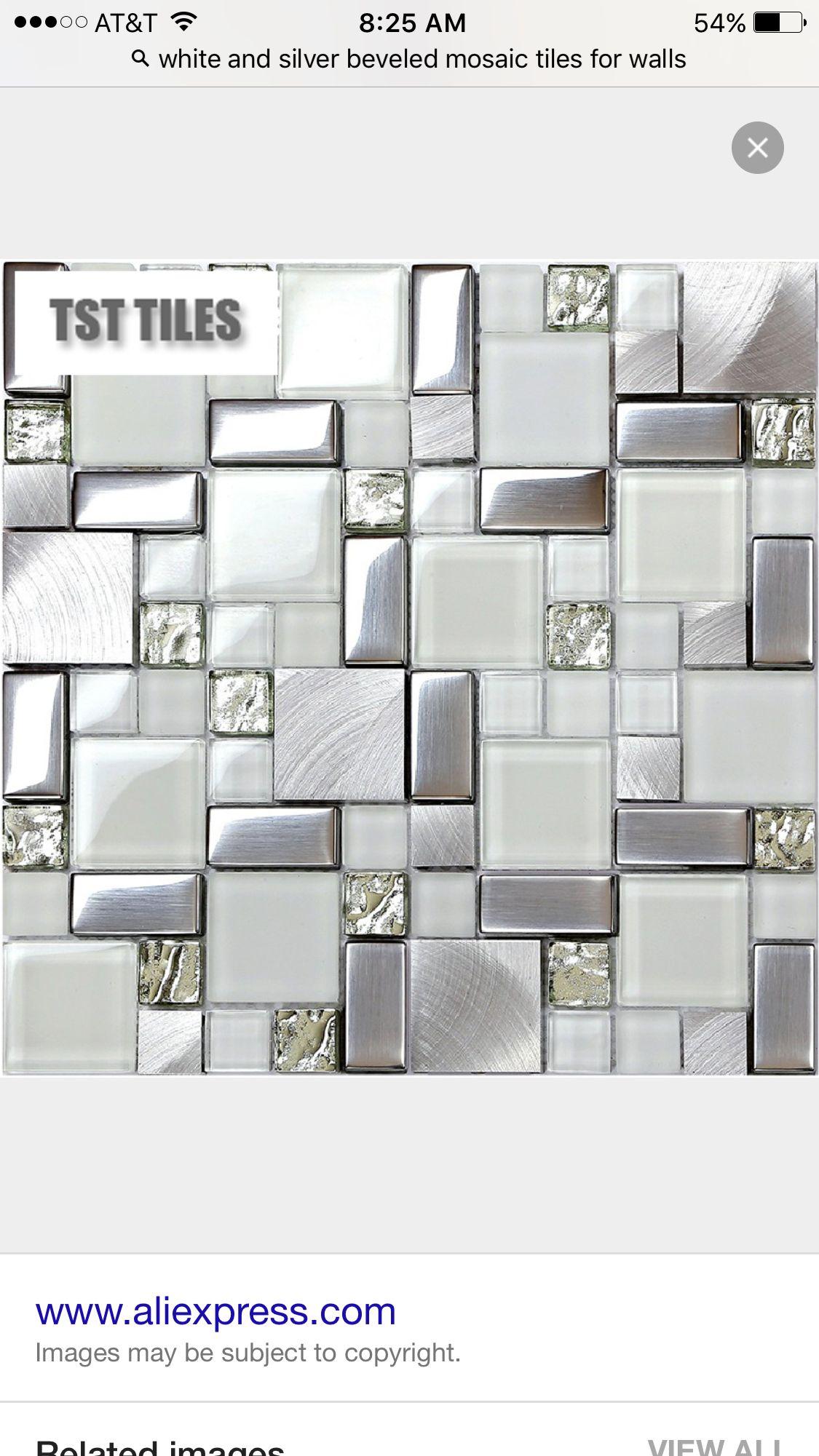 Bling Bathroom Tiles Metal Backsplash Kitchen Glitter Bathroom