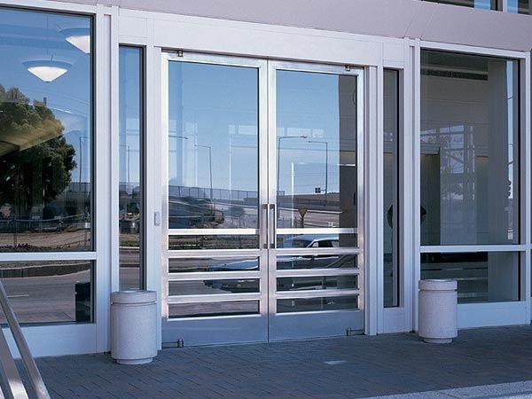 Puerta De Doble Hoja Puertas De Entrada Aluminio Puerta De Vidrio Puertas De Vidrio