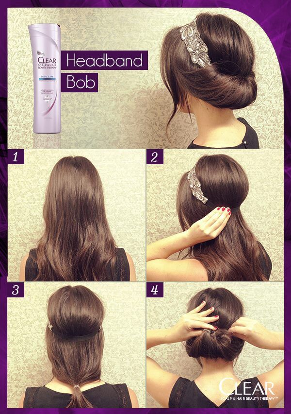 faux bob | Headband hairstyles, Gatsby hair, Long hair styles