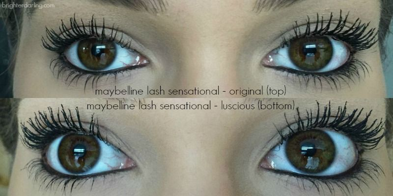 6ce26112e4b maybelline lash sensational original vs lash sensational luscious  comparison on lashes