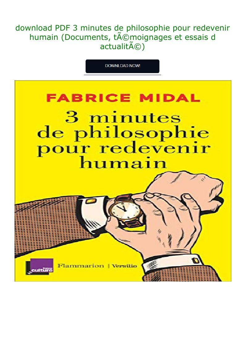 3 Minutes De Philosophie Pour Redevenir Humain : minutes, philosophie, redevenir, humain, Download, Minutes, Philosophie, Redevenir, Humain, (Documents,
