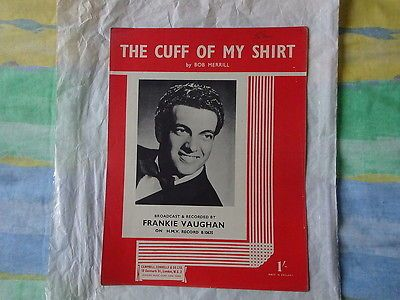 The cuff of my shirt words & #music by bob #merrill #sheet #music,  View more on the LINK: 	http://www.zeppy.io/product/gb/2/201777905133/