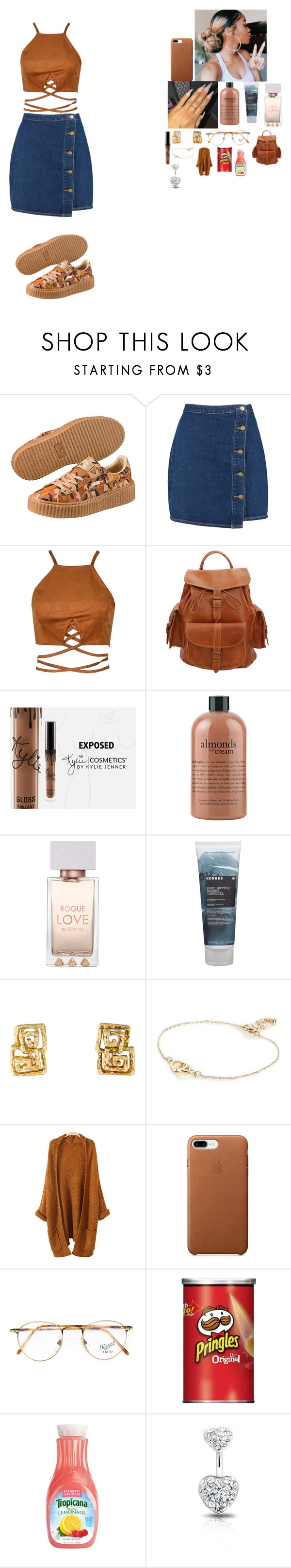 """""""~ school outfit ~"""" by foodislyfe ❤ liked on Polyvore featuring Puma, Boohoo, Grafea, philosophy, Korres, River Island, Persol and Bling Jewelry"""