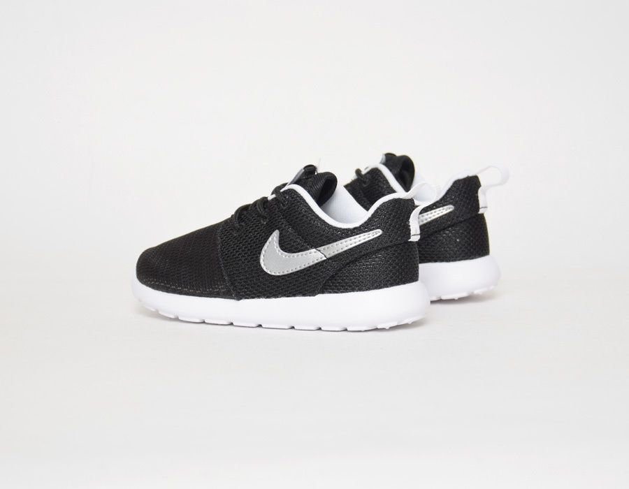 buy popular c738f f11b6  Nike Roshe Run Baby Black Grey  sneakers