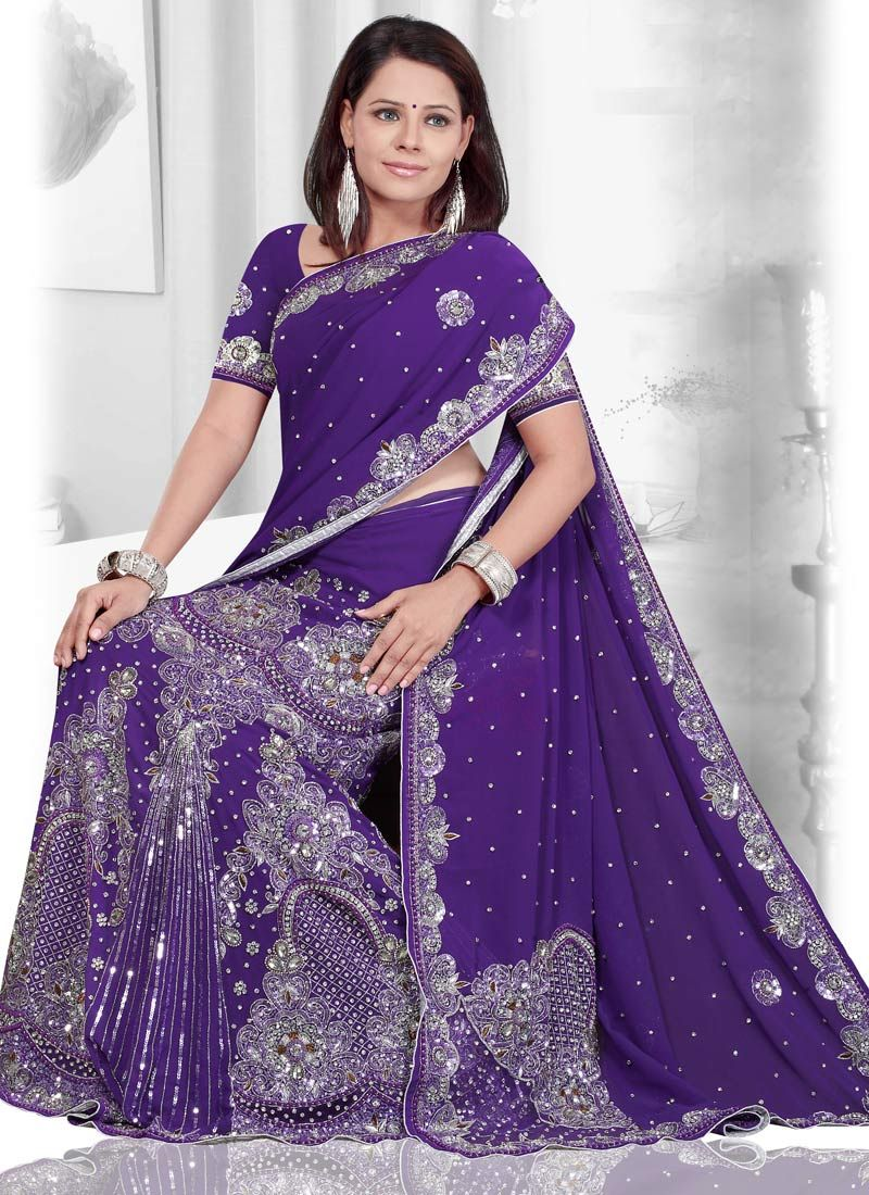 purple lehenga saree...on a white girl! Like me....haha | My Style ...