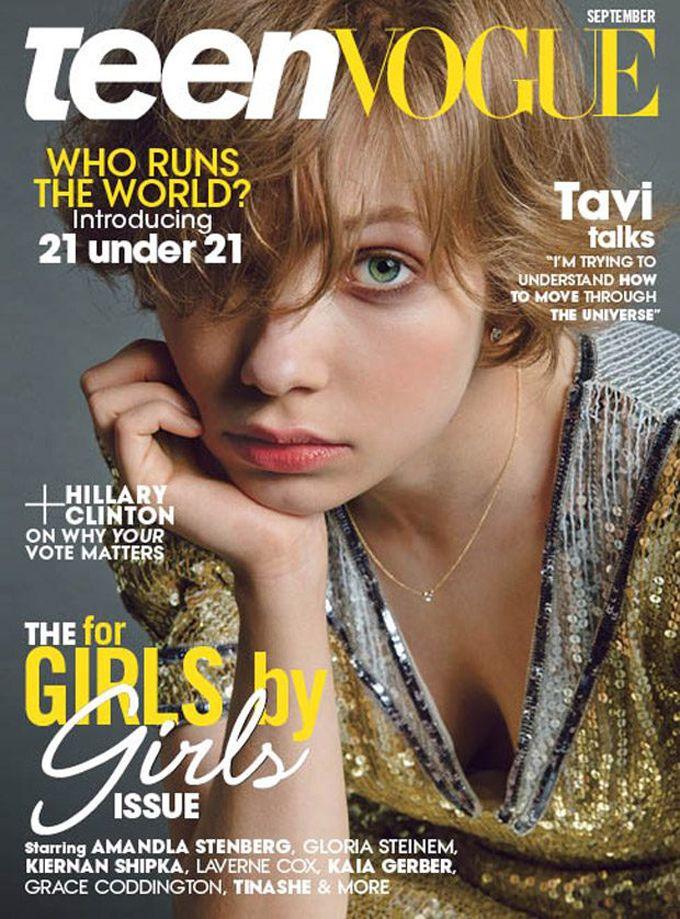 Teen magazine interview