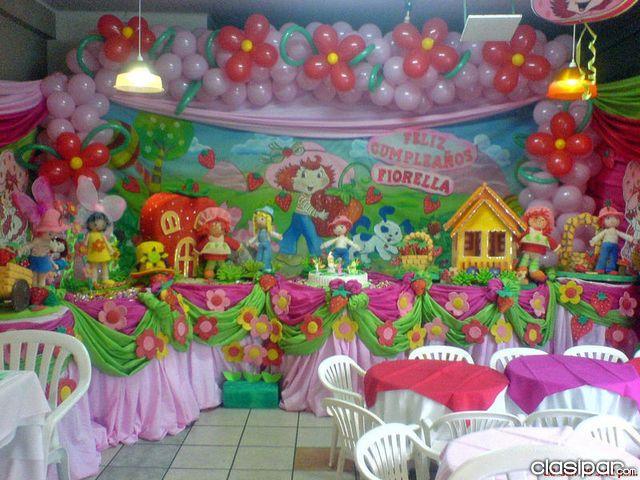 ideas para tus fiestas tematicas decoracion para fiesta frutillita