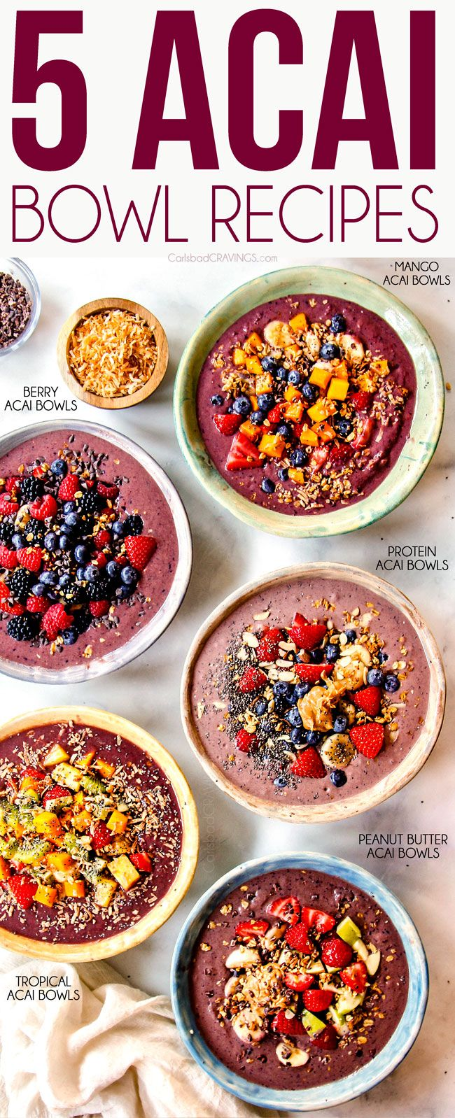 Photo of Acai Bowl (5 Easy Recipes!)
