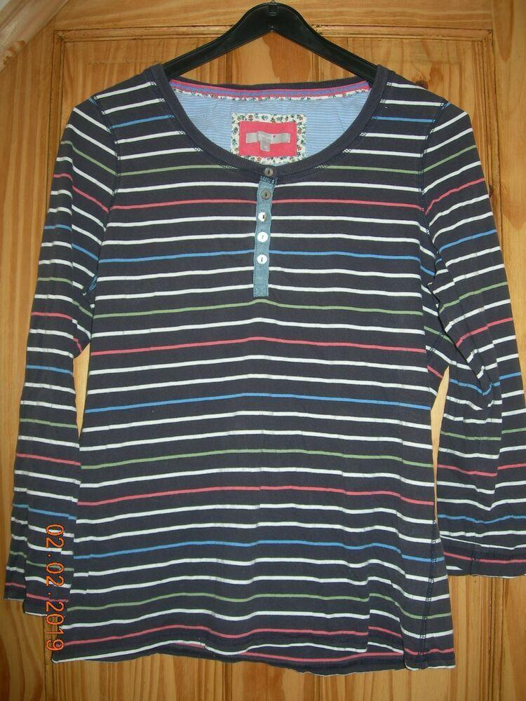 Ex M/&S Ladies Classic Top T shirt Pure Cotton short Sleeve V Neck