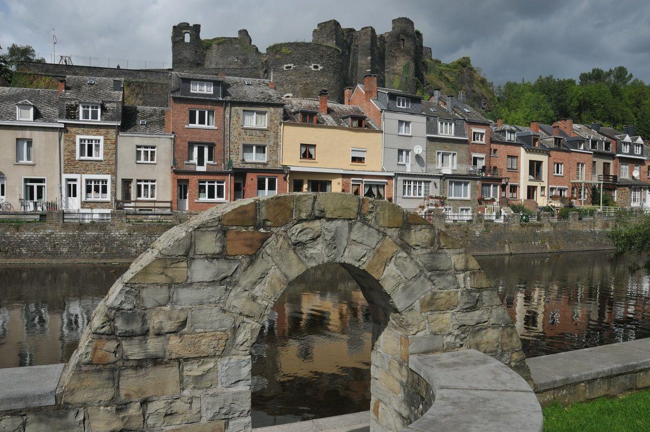 Medieval Castle in La Roche-en-Ardenne, Luxembourg province, Belgium