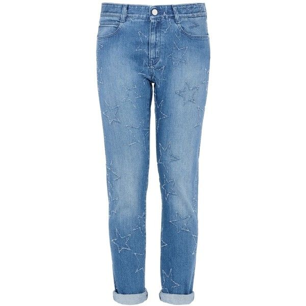 fringed stars boyfriend jeans - Blue Stella McCartney Free Shipping Comfortable Low Price Fee Shipping EyrLmhL