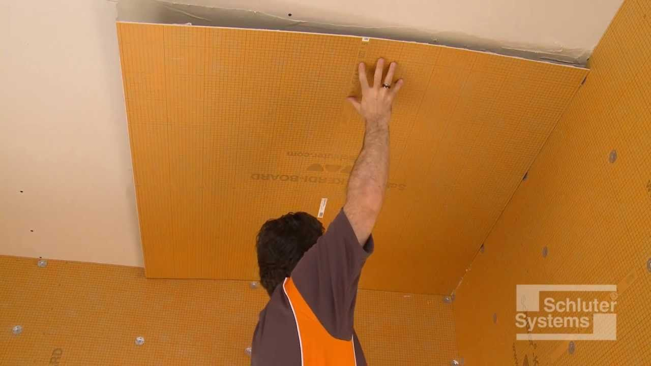 Schluter Kerdi Board Over Solid Backing For Ceilings Ceiling Boards Installation