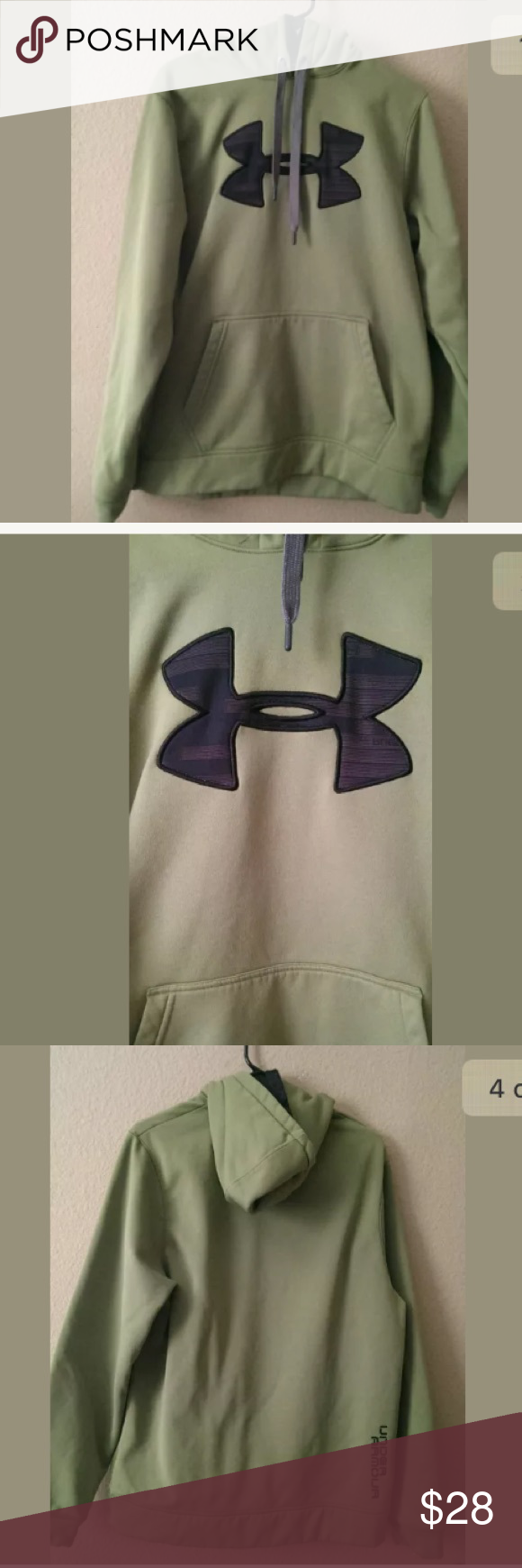 Mens Medium Under Armour Hoodie Excellent condition! Green with black logo. Under Armour Storm Hoodie Under Armour Jackets & Coats Lightweight & Shirt Jackets