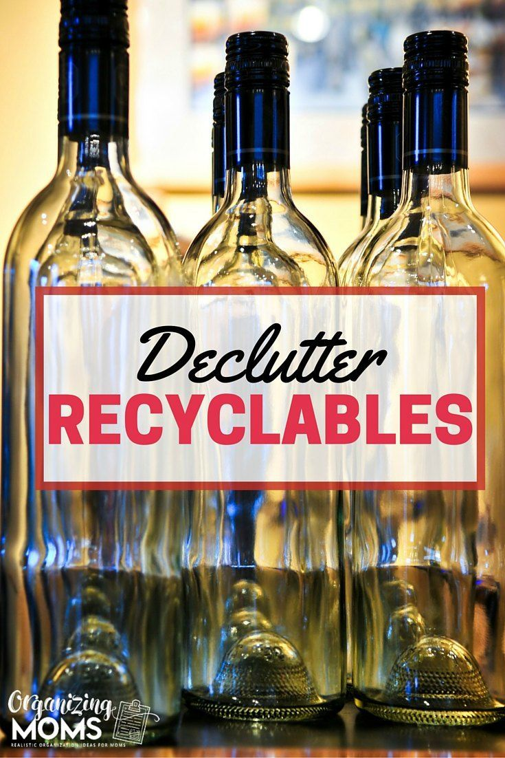 Holding onto stuff you need to recycle? Today's the day to get rid of it! Part of the GET RID OF IT! Decluttering Challenge. Recycle your recyclables and clear out space in your home. just now