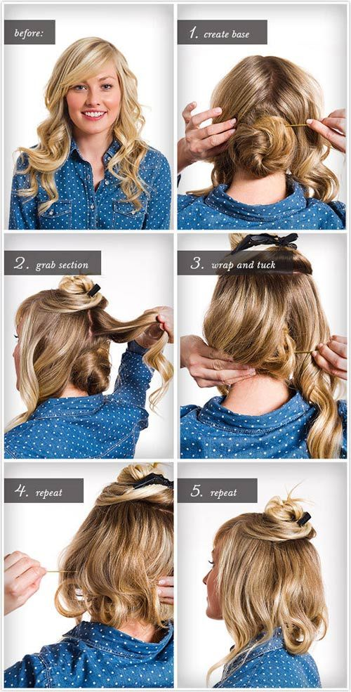 17 Cute Faux Bob Ideas Of 2019 How To Fake A Bob With Long Hair Hair Styles Vintage Hairstyles For Long Hair Long Hair Styles