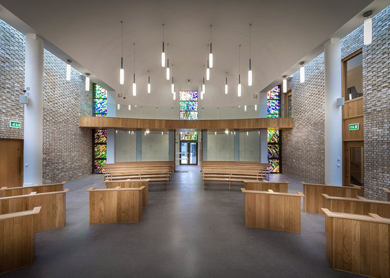 Austin-Smith:Lord's Carmelite Monastery has brick walls inside and out