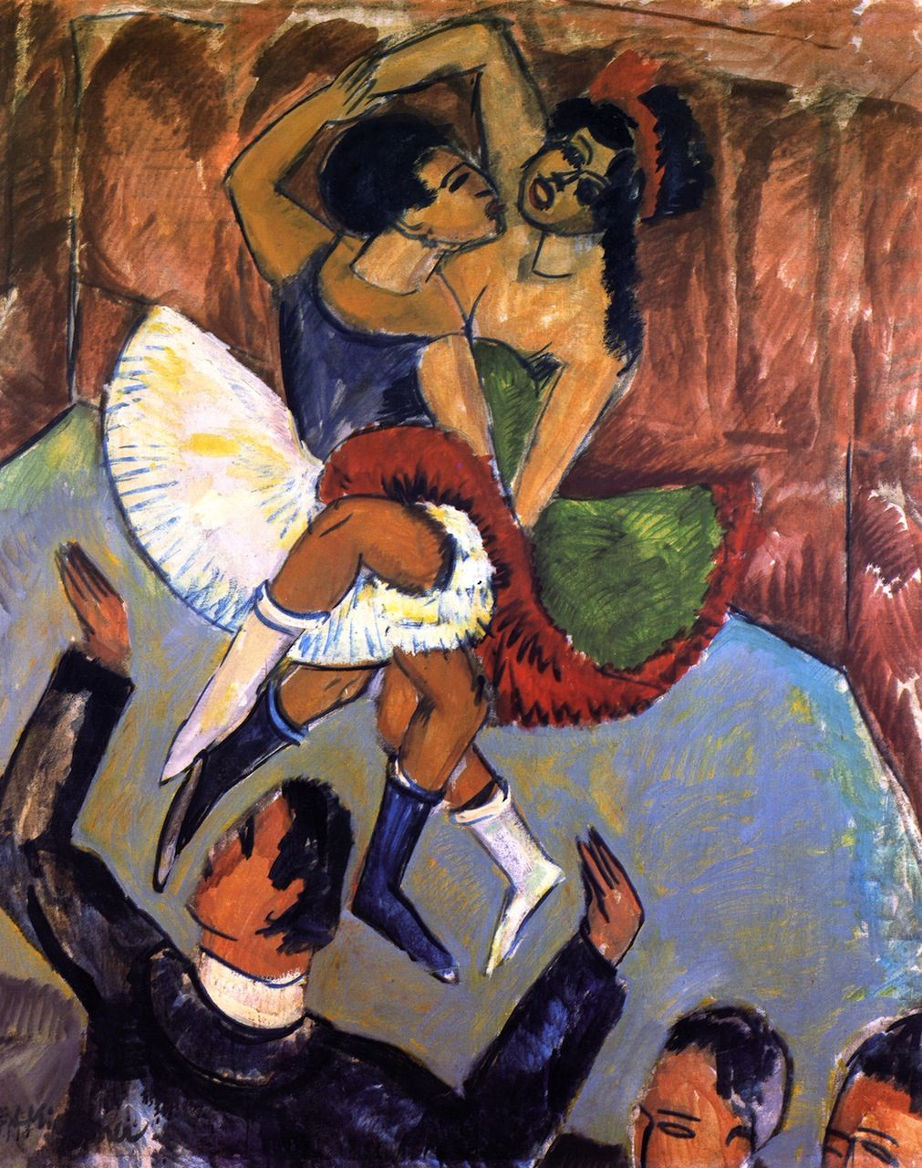 Ernst Ludwig Kirchner ~ Negerdans ~ 1911 ~ Olieverf op karton ~ 151,5 x 120 cm. ~ Kunstsammlung Nordrhein-Westfalen, Düsseldorf