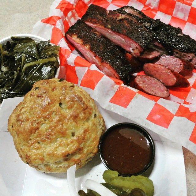 Sampler from Jackson St. BBQ, Houston, TX.  #BBQ #HouBBQ #TexasBBQ #Houston  #DowntownHouston #foodbloggers #houstonfood #slgt