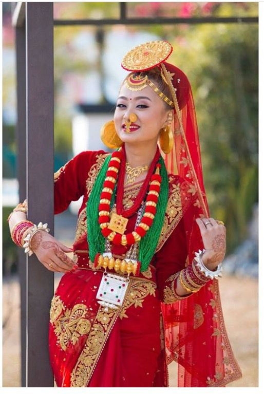 ac8a35126b Beautiful Limbu(Nepali) bride in a traditional Limbu outfit ...