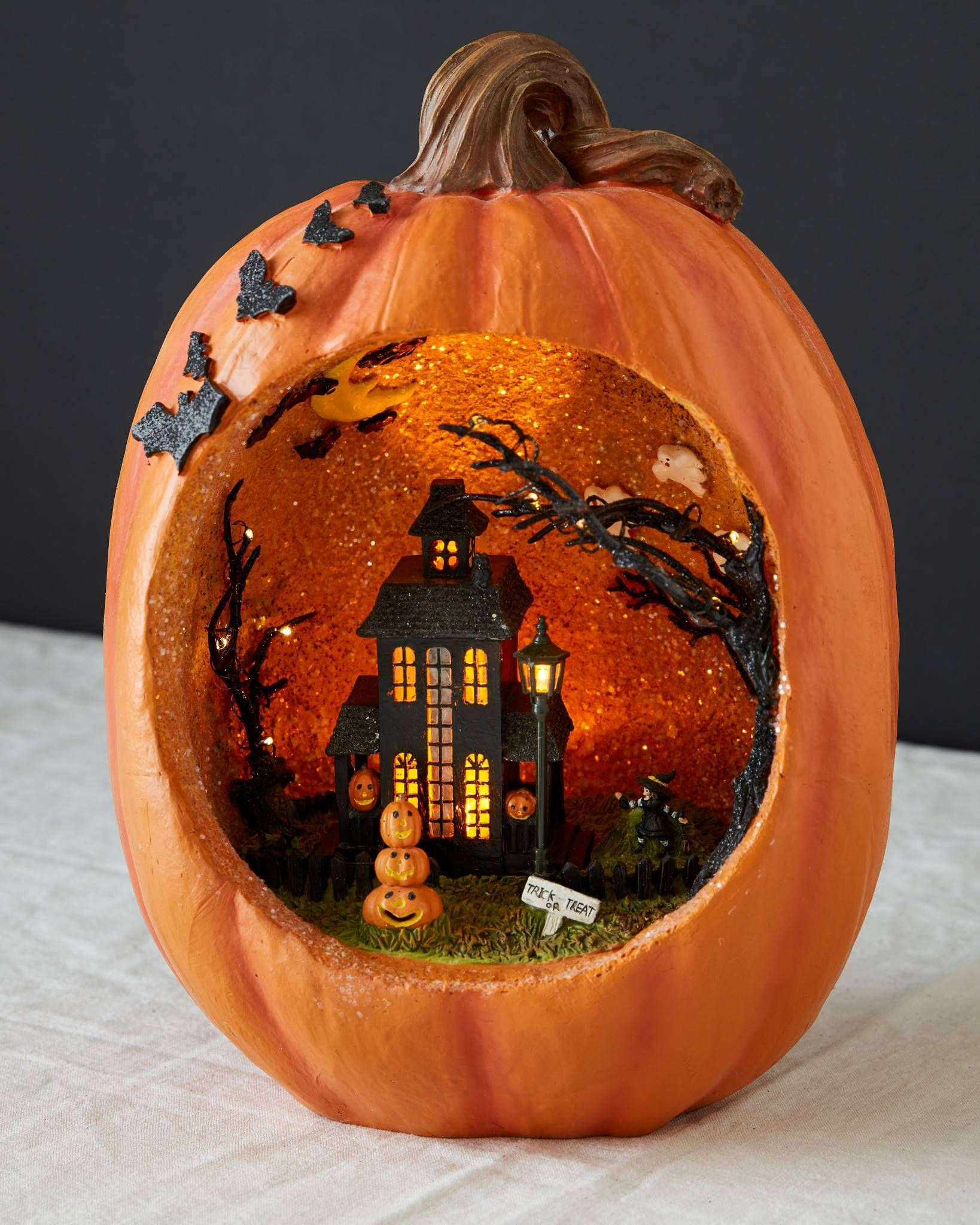 Haunted House Led Pumpkin In 2019 Pumpkin Decorating