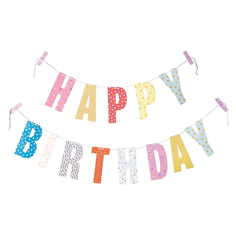 Paper Poetry Girlande Happy Birthday 3m Geburtstagsgirlande