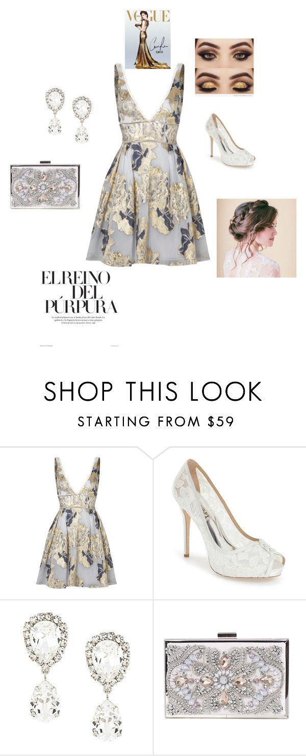 """Elegant"" by fashionforward-822 ❤ liked on Polyvore featuring Notte by Marchesa, Badgley Mischka and Dolce&Gabbana"