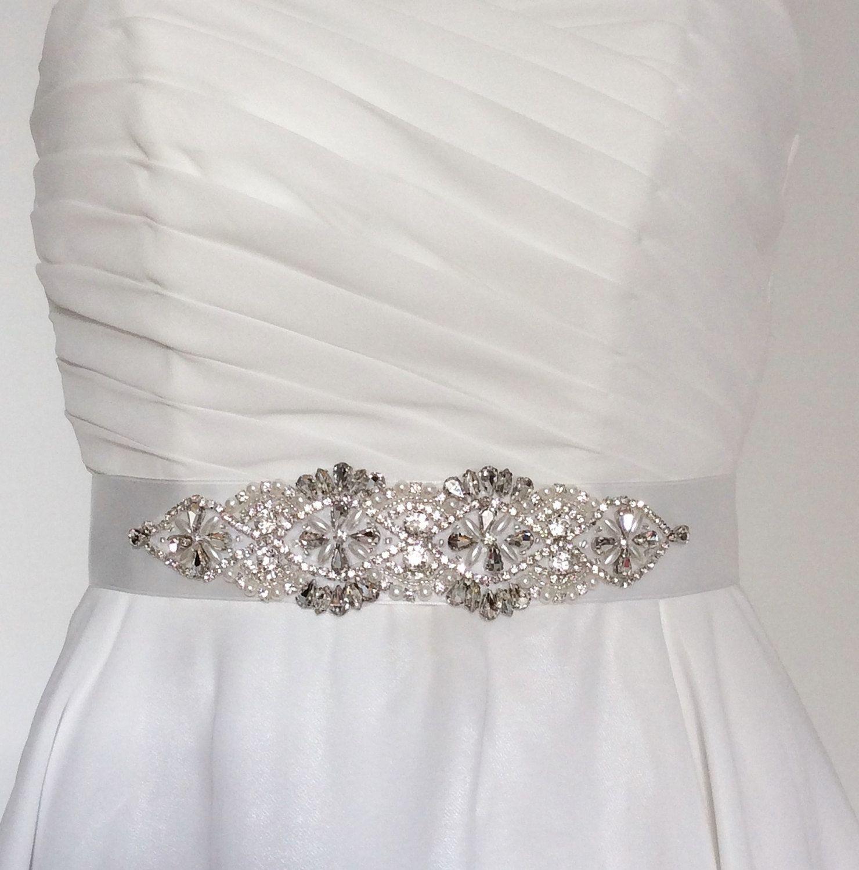 Burlap wedding dress sash  Bridal sash bridal belt bridal sash belt crystal bridal sash