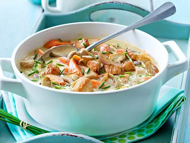 Herzhaftes Puten-Pilz-Gulasch mit Möhren #gulaschrezept