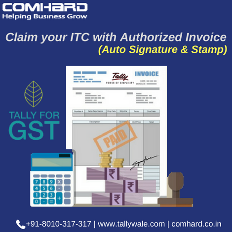 Claim Your Itc With Auto Signature  Stamp In Our Invoice Create