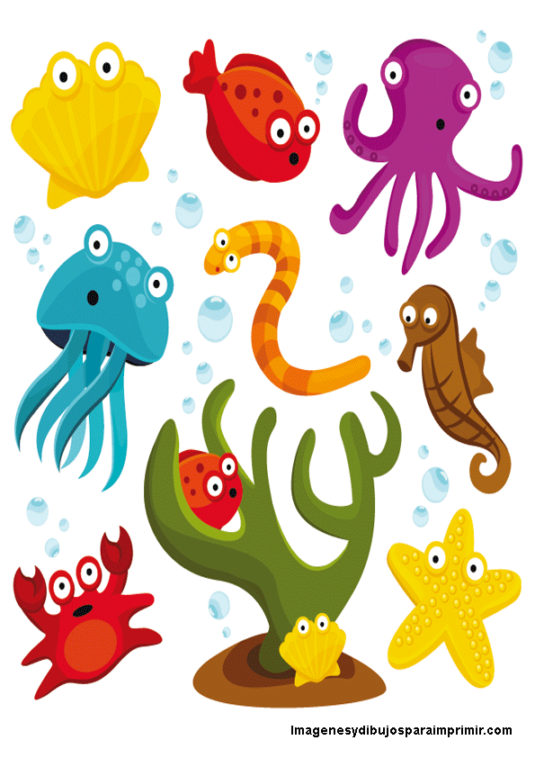 Animales Del Mar Para Imprimir Clip Art Animais Marinhos