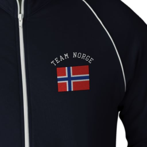 TEAM NORGE Sports Flag Embroidered Track Jackets