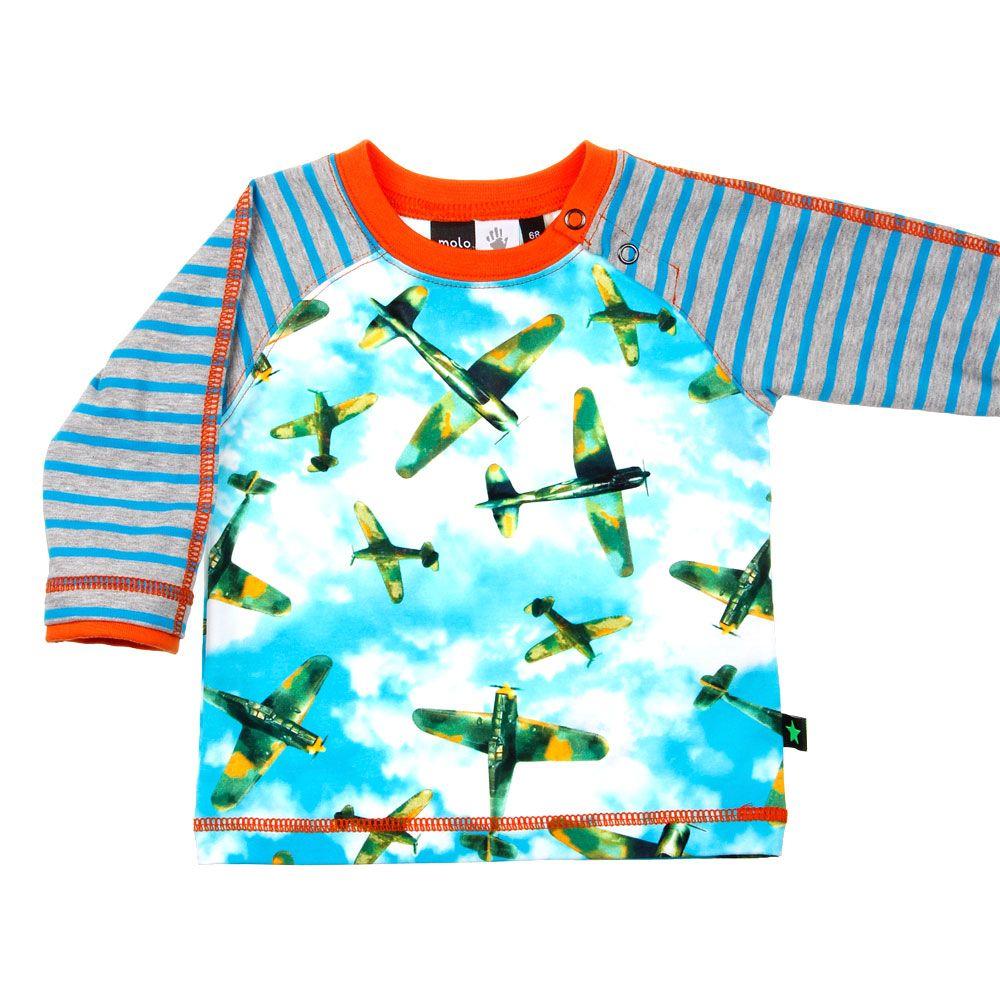 Babykleding Molo Shirt | airplanes | Sale op www.kienk.nl