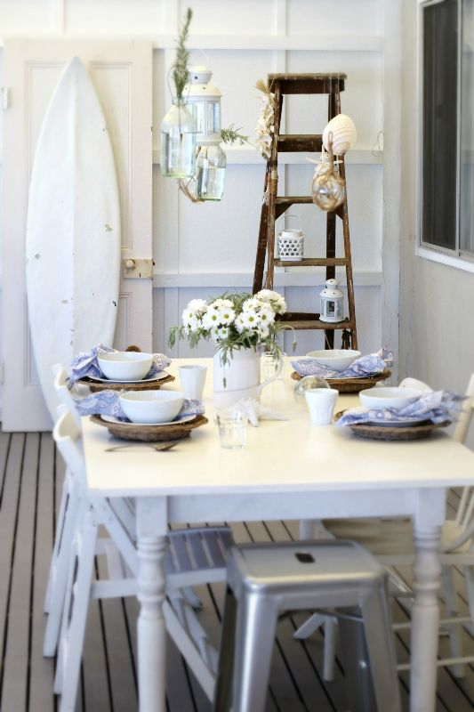 Vintage Surfboard Little Miss Homes Cottage Dining Rooms Beach