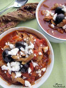 Gyros-Tomaten-Suppe