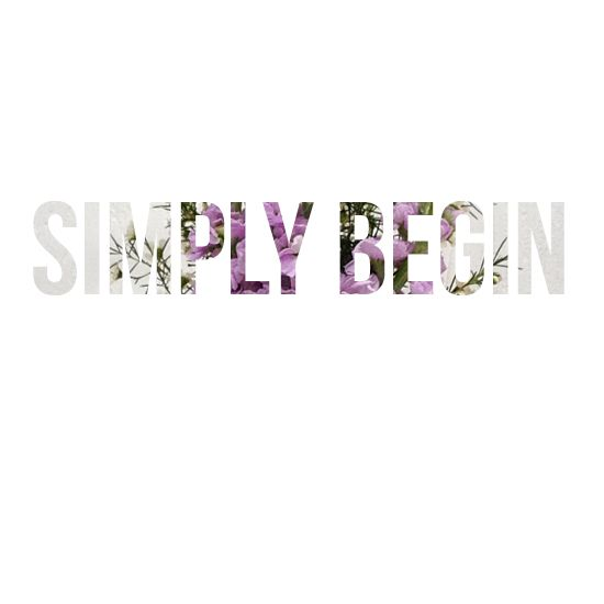 simply begin > it's amazing what you can accomplish when you stop daydreaming and start doing