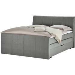 Photo of Boxspringbett – grau – 168 cm – 124 cm – 231 cm – Betten > Boxspringbetten > Boxspringbetten mit Bet