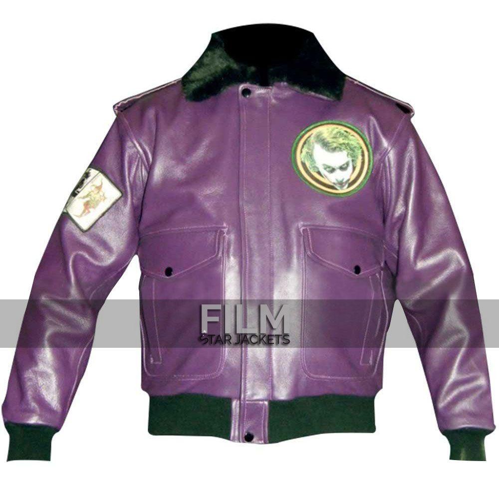 Joker Goons Bomber Leather Jacket Jackets Purple Leather Jacket Leather Bomber Jacket [ 1000 x 1000 Pixel ]