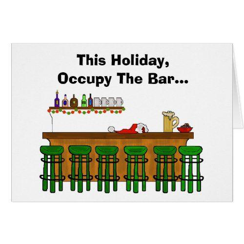 Occupy The Bar Funny Christmas Card - Version 2 2017 Christmas