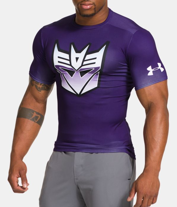 3bf0cffd Men's Under Armour® Alter Ego Transformers Decepticons Classic Compression  Shirt, PURPLEHEART, Front