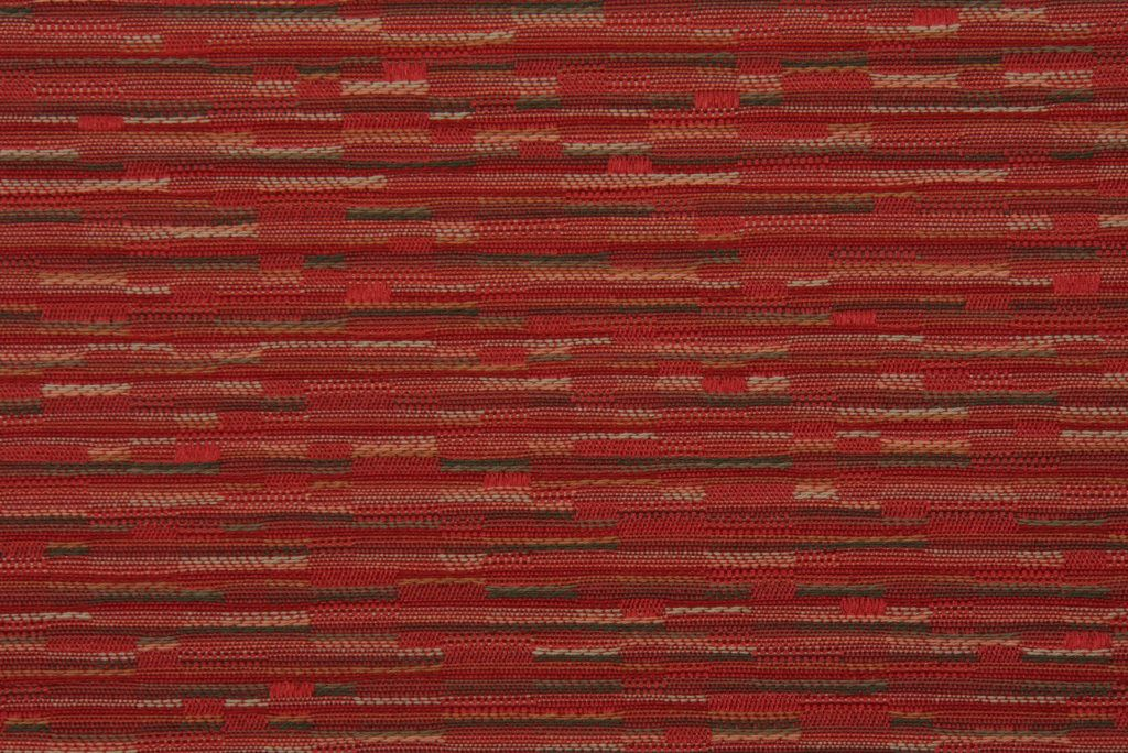 Robert Allen Woven Stripe Upholstery Fabric in Red/Multi