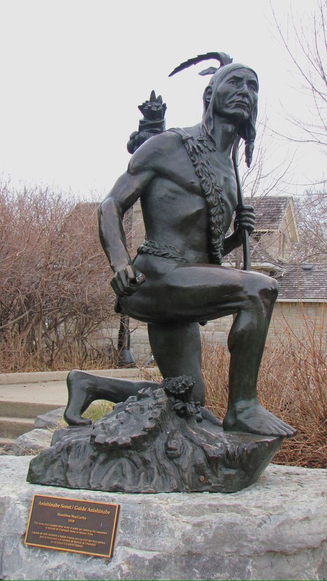 Statue Of Anishinabe Scout Statue Made By Hamilton Mccarthy In