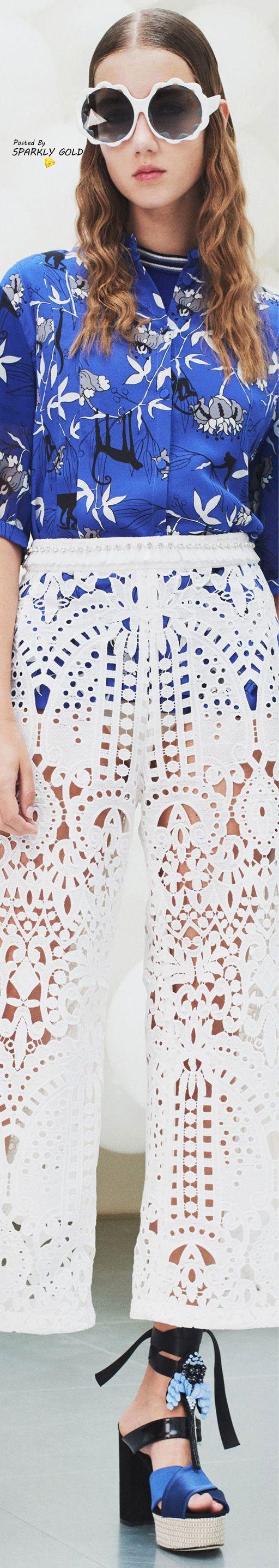 Royal blue lace wedding dress october 2018 Markus Lupfer Spring  RTW  Mark Lupfer   Pinterest